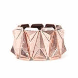 Rock Season Pyramid Cuff Bracelet Bronze