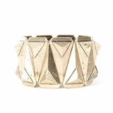 Rock Season Pyramid Cuff Bracelet Gold