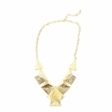 Rock Season Pyramid Necklace in Gold