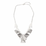Rock Season Pyramid Necklace in Silver