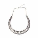 Rock Season Spike Necklace in Silver