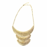 Rock Season Tri-Plate Necklace in Gold