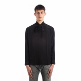 Saint Laurent Bow Tie Silk Shirt - Black