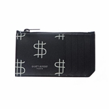 Saint Laurent Dollar Printed Card Holder - Black