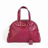 Saint Laurent 'Muse Medium' Leather Dome Satchel - Red