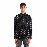 Saint Laurent Polka Dot Printed Shirt - Black