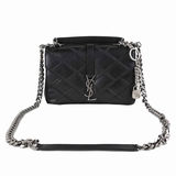 Saint Laurent Quilted Leather Medium College Shoulder Bag - Black