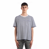 Saint Laurent Striped T-shirt - White/Blue