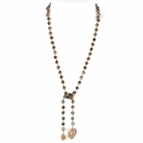 Saint Vintage Charm Necklace - Brown
