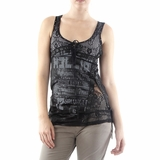 Salvage Cotton Top - Black