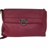 Salvatore Ferragamo 2 Way Clutch Cross Body Bag - Purple