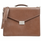 Salvatore Ferragamo Leather Briefcase - Brown