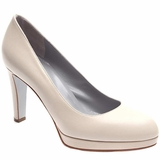 Sergio Rossi Leather Court Shoes Pumps - Beige