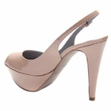 Sergio Rossi Patent Leather Platform Shoes - Cream
