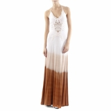 Sky Brown Long Dress