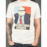 SNL Chris Farley Motivational Speaker Graphic Tee - White