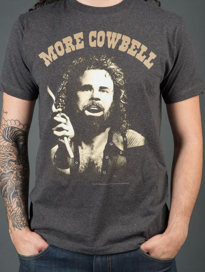 Authentic Snl Will Ferrell More Cowbell Graphic Tee