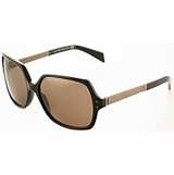 Tod's 0015/01J Brown Gradient Sunglasses with Case - Black