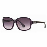 Tod's 0027/81Z Violet Shaded Sunglasses with Case - Burgundy