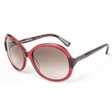 Tod's 0030/69F Shiny Brown Gradient Sunglasses with Case - Bordeux