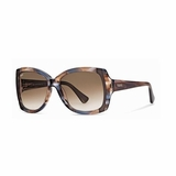 Tod's 0041/50F Gray Marble Gradient Sunglasses with Case - Brown