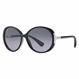 Tod's 0049/01B Shiny Grey Gradient Sunglasses with Case  Black