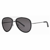 Tod's 0063/20A Grey Shaded Aviator Sunglasses with Case - Black