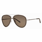 Tod's 0063/51J Shaded Aviator Sunglasses with Case - Grey