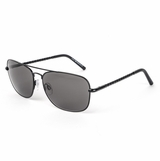 Tod's 0066/02A Matte Black and Smoke Sunglasses with Case - Black
