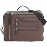 Tods Pashmy Nylon and Leather Briefcase - Brown
