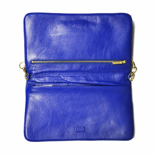 Authentic Tory Burch Bombe Reva Clutch Shoulder Royal