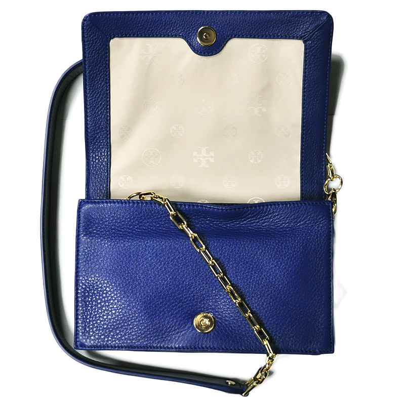 Authentic Tory Burch Kipp Cross Body Bag Nile - Blue at Modaqueen.com 44bb75717
