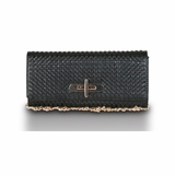 Urban Expressions Blaire Messenger Clutch - Black