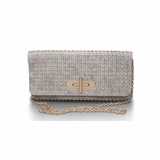 Urban Expressions Blaire Messenger Clutch - Bone