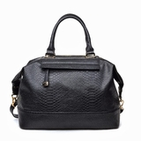 Urban Expressions Ellis Handbag Python Vegan Leather Tote Bag - Black