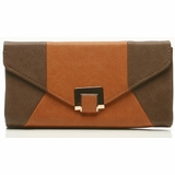 Urban Expressions Mariah Clutch Messenger Bag - Taupe