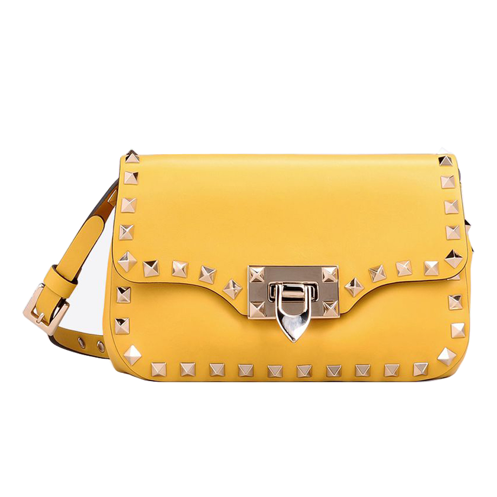 db04106237 Valentino Rockstud Crossbody Bag - Yellow