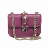 Valentino Small Rockstud Nwt Shoulder Bag - Purple