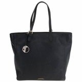 Versace Collection Pebbled Leather Tote Bag - Black