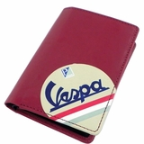 Vespa Credit Card Case Wallet - Red