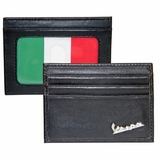 Vespa Credit Card Case with Italian Flag - Black