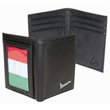 Vespa Credit Card Fold with Italian Flag - Black