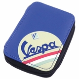 Vespa Eco-leather Keyring Wallet - Blue/Black