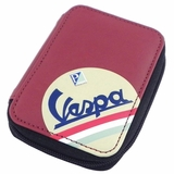 Vespa Eco-leather Keyring Wallet - Red/Black