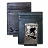 Vespa Front Pocket Wallet with Magnetic Money Clip - Black