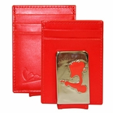 Vespa Front Pocket Wallet with Magnetic Money Clip - Red