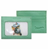 Vespa Green Girl On Scooter Credit Card Case - Green