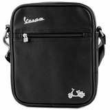 Vespa Imitation Leather Messenger Bag Ipad - Black