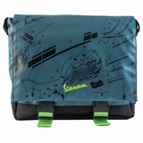 Vespa Messenger Bag - Black/Blue