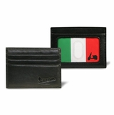 Vespa Peekabo Italian Flag Credit Card Case - Black